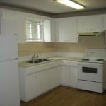 2 BR basement suite kitchen empty
